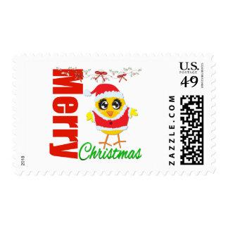 Merry Christmas Santa Chick v2 Stamps