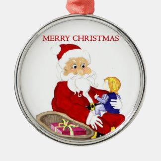 Merry Christmas Santa & Child ornament