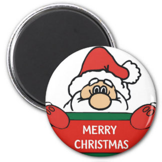 Merry Christmas Santa Claus 2 Inch Round Magnet