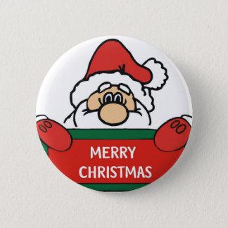 Merry Christmas Santa Claus Button