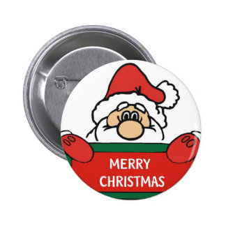 Merry Christmas Santa Claus Buttons