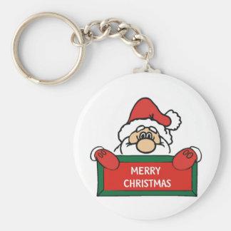 Merry Christmas Santa Claus Keychain