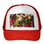 Merry Christmas Santa Claus Moose Trucker Hat