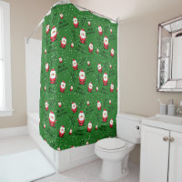 Merry Christmas Santa Claus Shower Curtain
