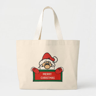 Merry Christmas Santa Claus Tote Bag