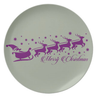 Merry christmas Santa Clause Dinner Plate