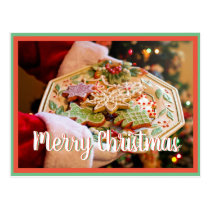 Merry Christmas Santa cookie postcrossing Postcard