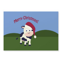 Merry Christmas Santa Cow magnetic card