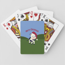 Merry Christmas Santa Cow Playing Cards