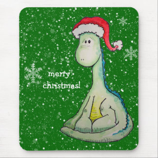 Merry Christmas!  Santa Dinosaur Mouse Pad