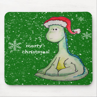 Merry Christmas!  Santa Dinosaur Mouse Pads