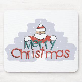 Merry Christmas Santa Doodle Mousepad