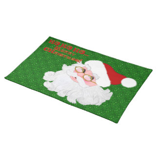Merry Christmas Santa Face-PLACEMATS Placemat
