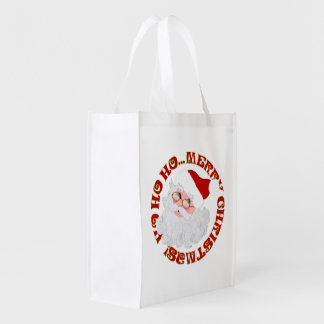 Merry Christmas Santa Face-Reusable Bag