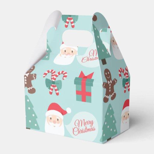 Merry christmas santa gable favor box zazzle