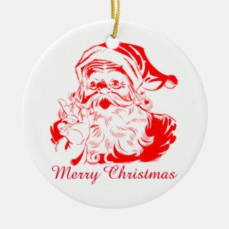 Merry Christmas Santa Hanging Tree Ornament
