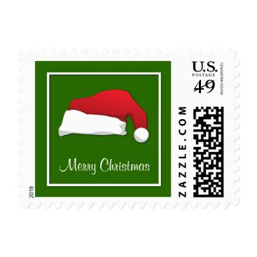 Aztec Themed Merry Christmas Santa Hat Postage