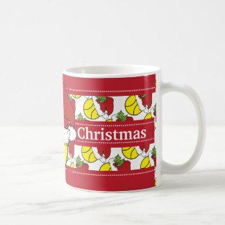 Merry Christmas Santa Hat Tennis Ball Classic White Coffee Mug