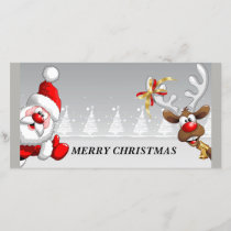 Merry Christmas Santa Holiday Card