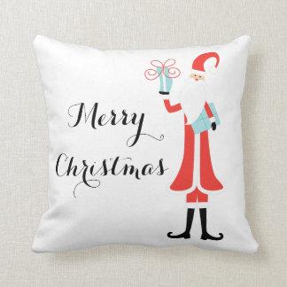 Merry Christmas Santa Holiday Pillow