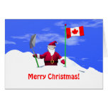 Merry Christmas Santa in Canada Greeting Card