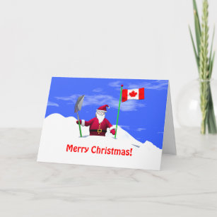 Funny canadian cards zazzle merry christmas santa in canada holiday card m4hsunfo