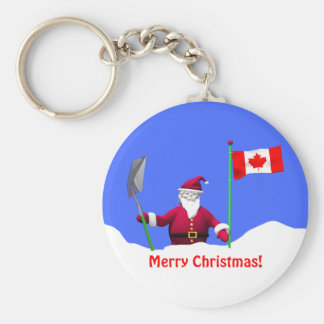 Merry Christmas Santa in Canada Keychain