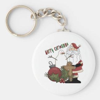 Merry Christmas Santa Keychain