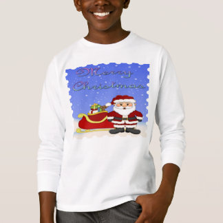 Merry Christmas Santa Kid's Long Sleeve Shirt