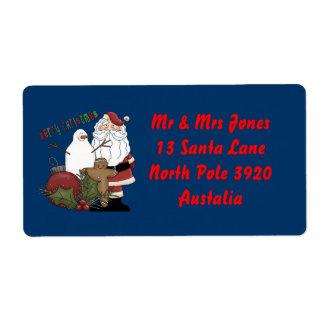 Merry Christmas Santa Label