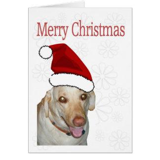 Merry Christmas Santa Labrador Greeting Card