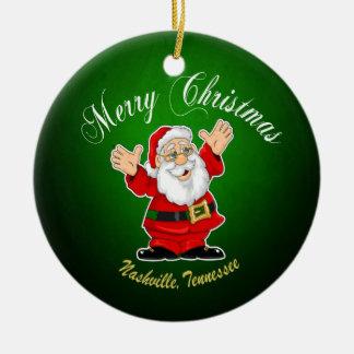 Merry Christmas Santa Nashville Ornament