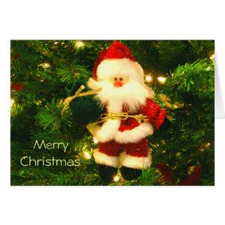 Merry Christmas - Santa Ornament Card