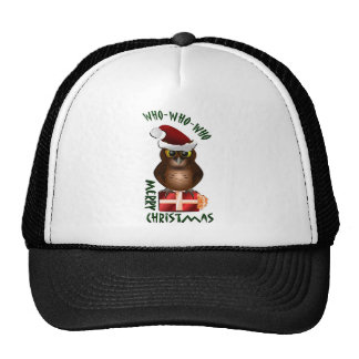 """Merry Christmas"" Santa Owl Trucker Hat"