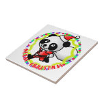 Merry Christmas Santa Panda Ceramic Tiles