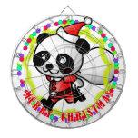 Merry Christmas Santa Panda Dartboards
