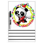 Merry Christmas Santa Panda Dry-Erase Board