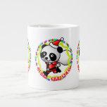 Merry Christmas Santa Panda Extra Large Mugs