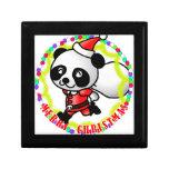 Merry Christmas Santa Panda Keepsake Box