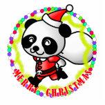 Merry Christmas Santa Panda Photo Sculptures