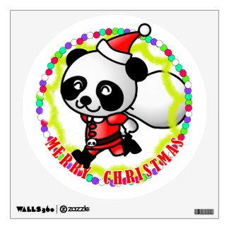 Merry Christmas Santa Panda Wall Graphics