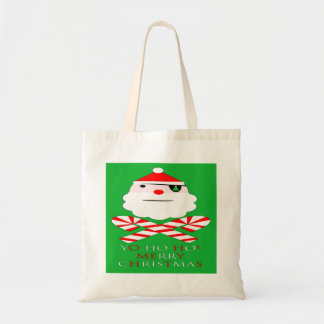 merry christmas santa pirate canvas bags