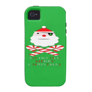 merry christmas santa pirate Case-Mate iPhone 4 cases