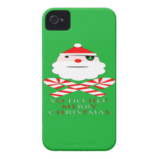 merry christmas santa pirate iPhone 4 Case-Mate case