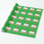 merry christmas santa pirate wrapping paper