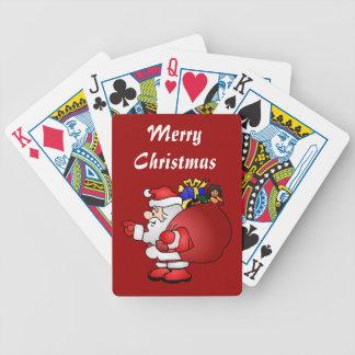 Merry Christmas Santa Playing Cards