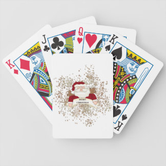 Merry Christmas Santa Bicycle Playing Cards