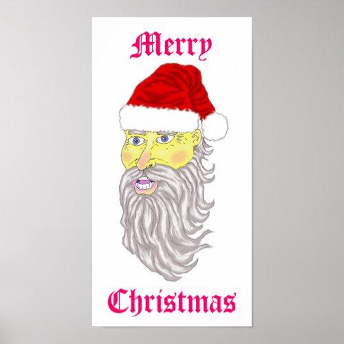 Merry Christmas Santa Poster print