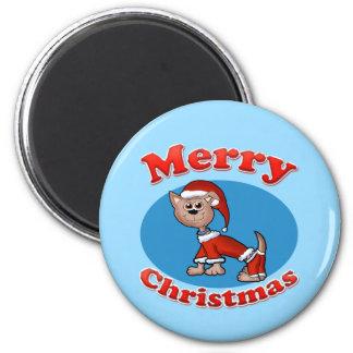 Merry Christmas Santa Pup Magnet