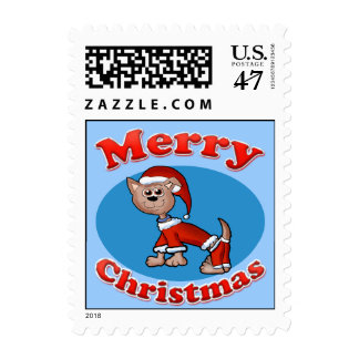 Merry Christmas Santa Pup Postage